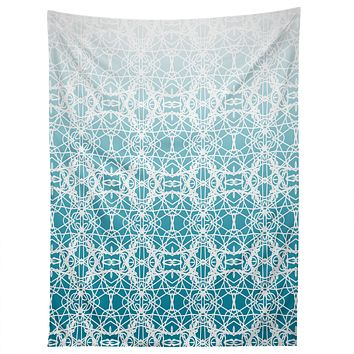 Lisa Argyropoulos Intricate Ombre Blue Tapestry