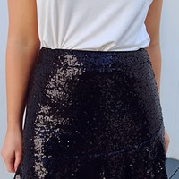 Let Your Light Shine Skirt: Black