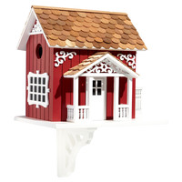 "9.5"" Swedish Cottage Birdhouse, Feeders, Houses & Bird Baths"