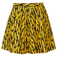 MOTO Banana Print Denim Skirt - Topshop