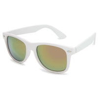 Blue Crown Rubber Classic Sunglasses White One Size For Men 21451115001