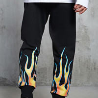 Flame Graphic Sweatpants
