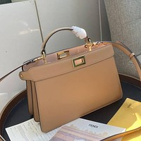 FENDI High Quality Fashion Leather Crossbody Satchel Shoulder Bag