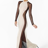 Illusion Mesh Maxi Dress