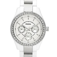 Fossil Striped Strap Watch - Women's Watches   Buckle