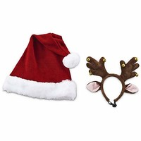 Time for Joy Santa's Helpers Hat and Antler Gift Set | Petco