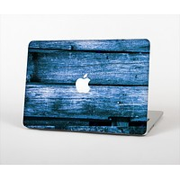 "The Grunge Blue Wood Planks Skin Set for the Apple MacBook Pro 15"" with Retina Display"