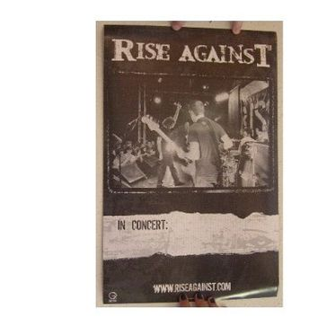 Rise Against Poster Shot From Backstage