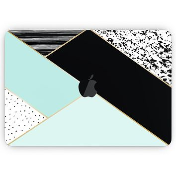 """Modern Geometric Mint V1 - Skin Decal Wrap Kit Compatible with the Apple MacBook Pro, Pro with Touch Bar or Air (11"""", 12"""", 13"""", 15"""" & 16"""" - All Versions Available)"""