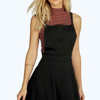 Laura Cross Back Pinafore Dress | Boohoo