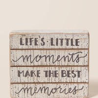 Moments and Memories Wood Wall Decor
