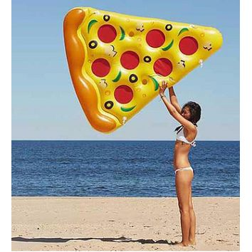 Inflatable Pizza Swimming Pool Floats Air Mattress Inflatable Sleeping Bed Water Hammock Lounger Chair Float Swimming Pool Toys