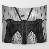 Brooklyn Bridge Wall Tapestry by Nicklas Gustafsson