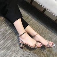 BURBERRY Women Fashion Casual Heels Shoes Sandals Shoes-1