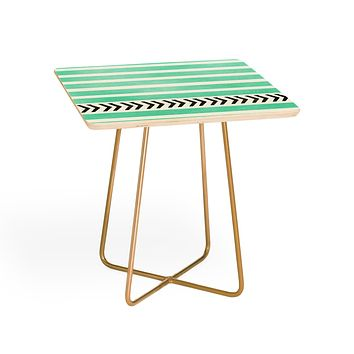 Allyson Johnson Mint Stripes And Arrows Side Table