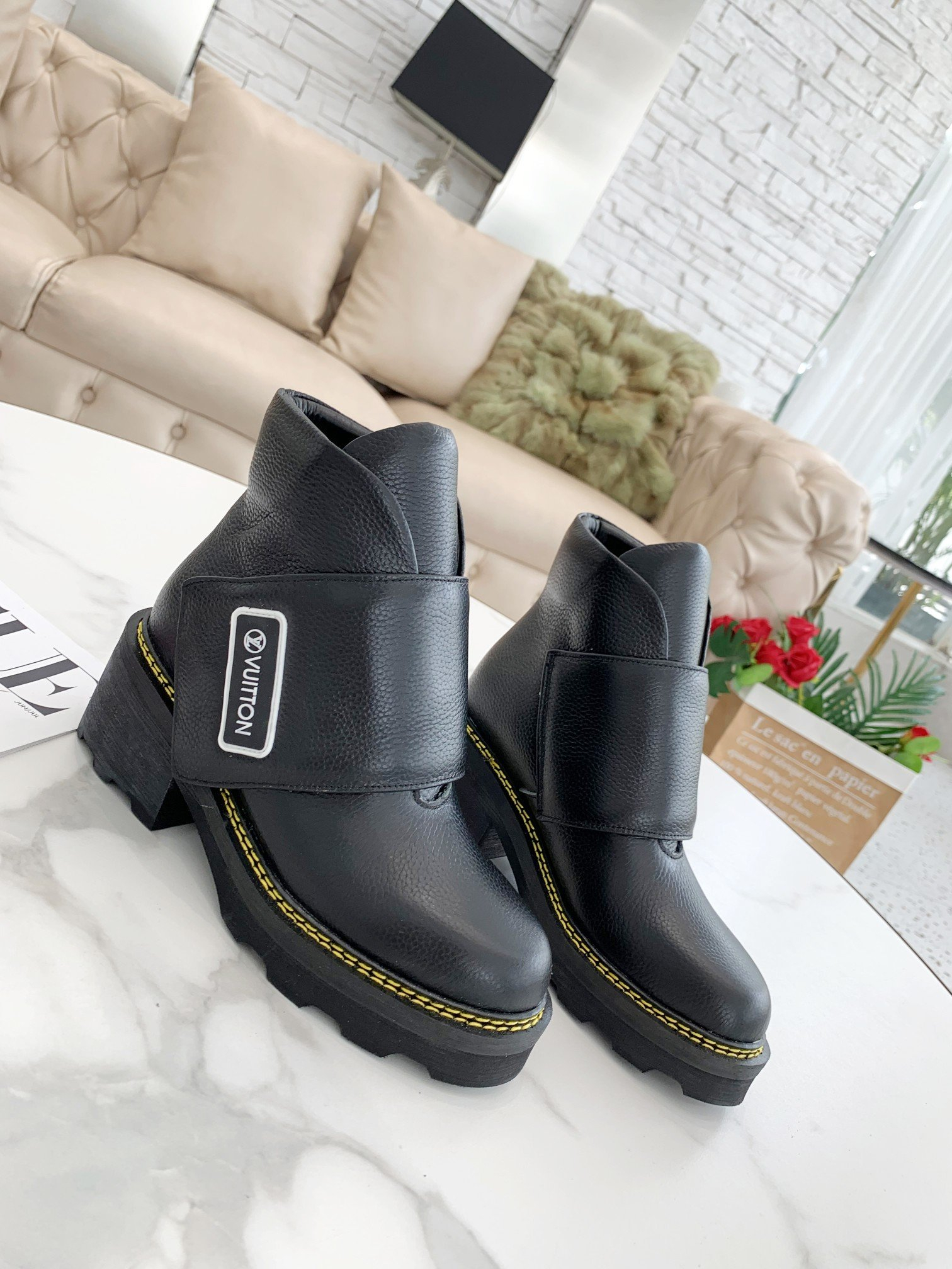 Image of Louis Vuitton LV Leather boots Fashionable Leisure Boots Shoes 08622