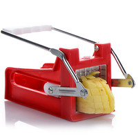 Stainless Steel French Home Fry Fries Potato Chips Strip Cutting Cutter Machine Maker Slicer Chopper Dicer + 2 Blades