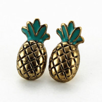 Pineapple Earrings Studs