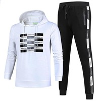 ADIDAS 2018 autumn and winter new men's casual outdoor sportswear two-piece White
