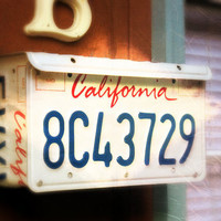 Upcycled Wall Mount California License Plate Mailbox