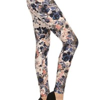 Floral Garden Graphic Print Lined Leggings