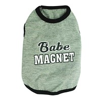 Happy Gifts High Quality Dog Clothing Pet Dog Cat Clothes Baby Magnet Cotton Blend Jersey Vest Pet Clothing