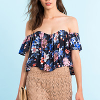 Juliet Off Shoulder Crop Top