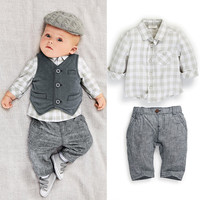 Baby Boys Three-Piece Vested Suit