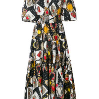 Dolce & Gabbana Playing Cards Printed Flared Dress - Farfetch