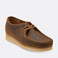 Wallabee. Beeswax Leather - Womens Medium Width Shoes - Clarks® Shoes