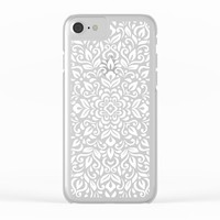 Mandala Floral Clear iPhone Case by lostanaw