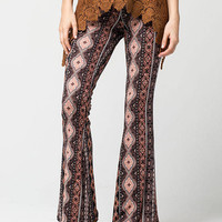 FULL TILT Baroque Printed Womens Flared Pants | Pants & Joggers