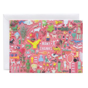 Tiny Things Thanks Collection Greeting Card | Thank You Note Card