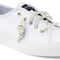 Sperry Top-Sider Seacoast Canvas Sneaker White, Size 9.5M  Women's Shoes