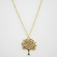 tree of life necklace necklace, family tree necklace,gold necklace,short necklace, friendship bridesmaids love gift