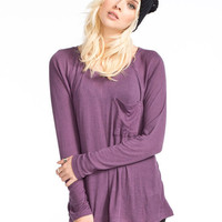 Rvca Cohabitate Womens Tee Eggplant  In Sizes