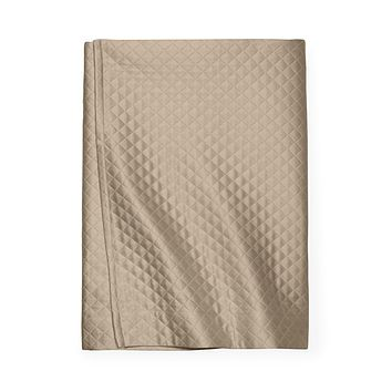 Bari Taupe Bed Skirt by Sferra
