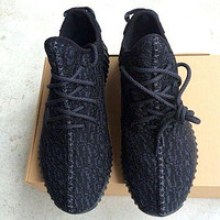 New 2015 Yeezy 350 Boost Black Mens Sneakers Replica. FREE Shipping.