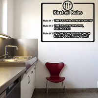 Vinyl Wall Decal Sticker Kitchen Rules #OS_AA1146