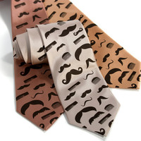 Flying mustaches and combs necktie