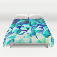 Green & Navy No. 2 Duvet Cover by House Of Jennifer