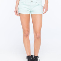 Volcom Sound Check Womens Denim Shorts Mint  In Sizes