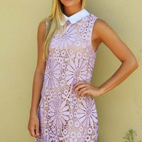 Lady With Class Dress: Lilac - Dresses - Hope's Boutique