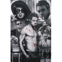 Fight Club Zach Garbrey Art Poster 24x36