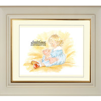 Art Print Little Girl Cuddling Toy Pig 10 x 8 Signed Giclee Water Colour Print Wall Art Home Decor AndiLucasArt