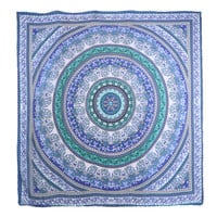 Bohemian Microfiber Beach Printed Round Towel Drying Compact Travel Sports Camping Shawl Chiffon