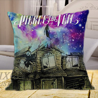 """pierce the veil cool cover galaxy Square on square pillow cover 16"""" 18"""" 20"""""""