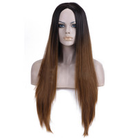 Gradient Ramp Cap Two Colors Synthetic Wig