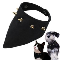 Dog Cat Bandana Spikes Studded Pet Collar Dogs Scarf Bow Ties Collar Pet Puppy Grooming Accessories For Small Dogs Cats