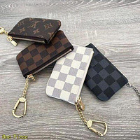 Louis Vuitton LV Hot Sale Classic Printed Letter Two-piece Shoulder Bag Messenger Bag Key Case Small Wallet